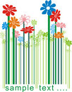 Floral color bar code Royalty Free Stock Photos