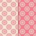 Floral colored seamless patterns. Backgrounds with fower elements for wallpapers