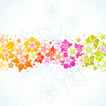 Floral colorful background Stock Image
