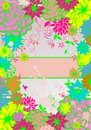 Floral colorful banner Royalty Free Stock Photo