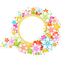 Floral colorful frame Royalty Free Stock Photography
