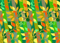 Floral colorful pattern seamless Royalty Free Stock Images