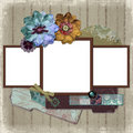 Floral Country Photo Frame Royalty Free Stock Images