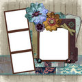 Floral Country Photo Frame Royalty Free Stock Image