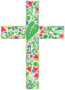 Floral cross Royalty Free Stock Image