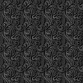 Floral 3d Seamless Black Paper Pattern Background Royalty Free Stock Photo
