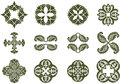 Floral damask icons a set of decorative design Stock Photos