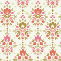 Floral damask seamless pattern background vector with abstract elements Royalty Free Stock Images