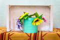 Floral decoration out of artificial flowers