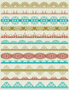 Floral decorative borders ornamental rules divid dividers vector Royalty Free Stock Photos