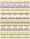 Floral decorative borders ornamental rules dividers vector Stock Photography