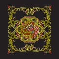 Floral decorative pattern for embroidery. Royal ornament in vint