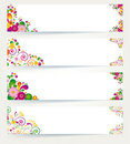 Floral design banners. Stock Photo