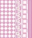 Floral  design border Stock Photo
