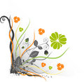 Floral Design Element Stock Photography