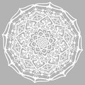 Floral design element. Line mandala isolated on grey background Royalty Free Stock Photo