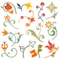 Floral design elements Royalty Free Stock Images