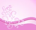 Floral design elements pink and background Stock Images