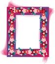 Floral design frame photo Royalty Free Stock Photo
