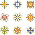 Floral dingbats Stock Photo