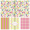 Seamless Background Patterns - Floral Ditsy Print Royalty Free Stock Photo