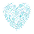 Floral Doodle Heart Object In ...