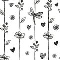 Floral dragonfly abstract background, seamless. Vector illustration Royalty Free Stock Photo