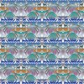 Floral elegance seamless pattern. Light colorful modern background wallpaper with abstract white flowers, swirl leaves, waves, li