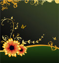 Floral elegant vector composit Royalty Free Stock Photos