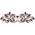 Floral element vector illustration of ornament for design Stock Photo