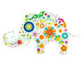 Floral elephant Royalty Free Stock Image
