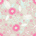 Floral embroidery design in a seamless pattern Royalty Free Stock Photo