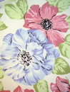 Floral fabric Stock Image
