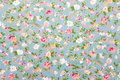 Floral fabric background Royalty Free Stock Photo