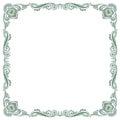 Floral fancy vintage pattern frame Royalty Free Stock Photo