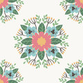 Floral flower pattern ornament vector illustration hand drawn seamless pattern background
