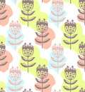 Floral flowers nature seamless vector pattern