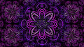 Floral fractal mandala wallpaper beautiful background with detailed design and bright neon colours Stock Photography