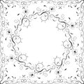 Floral frame black and white vector illustration this is file of eps format Royalty Free Stock Images