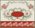 Floral frame and border . Stock Image