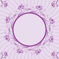 Floral frame, element for design, vector Royalty Free Stock Images