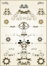 Floral frame elements
