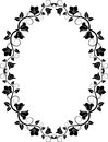 Floral frame filhouette of vector illustration Royalty Free Stock Image