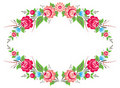 Floral frame in folk style Stock Photo