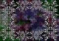 Floral Frame On Mosaic Backgro...