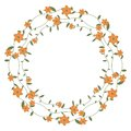 Floral frame with orange flowers Stock Photography