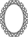 Floral frame oval vector illustration Stock Photos
