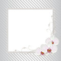 Floral frame with pearls Royalty Free Stock Photo
