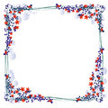 Floral frame for photos Stock Photo