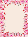 Floral frame with place for your text Stock Photo